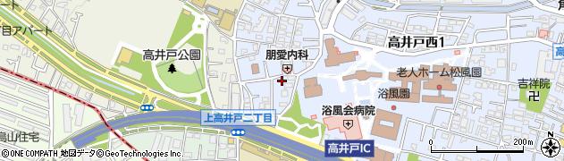 東京都杉並区高井戸西1丁目周辺の地図