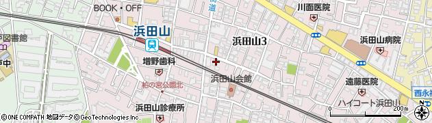 東京都杉並区浜田山周辺の地図