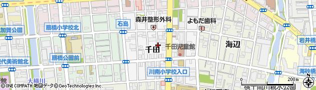 東京都江東区千田周辺の地図