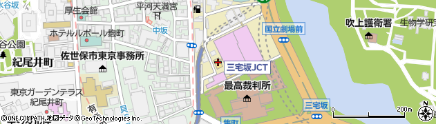 東京都千代田区隼町周辺の地図