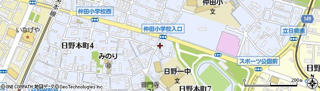 東京都日野市日野本町周辺の地図