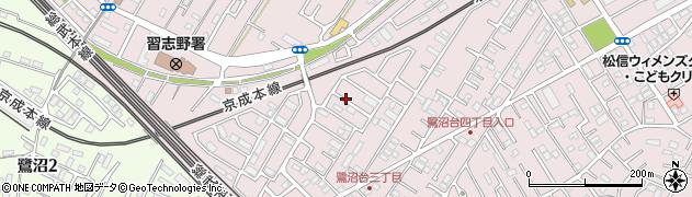 千葉県習志野市鷺沼台周辺の地図