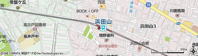 蘭 浜田山店周辺の地図