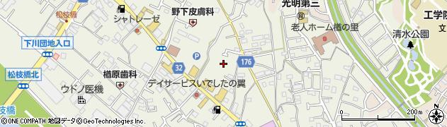 東京都八王子市楢原町周辺の地図