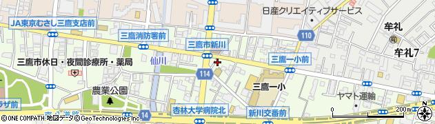 東京都三鷹市新川6丁目周辺の地図