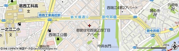 東京都江戸川区西瑞江周辺の地図