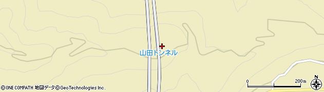山田トンネル周辺の地図