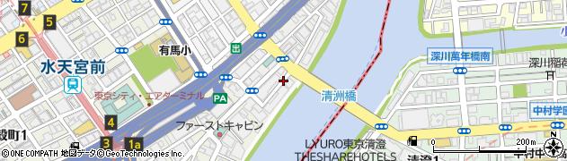 東京都中央区日本橋中洲周辺の地図