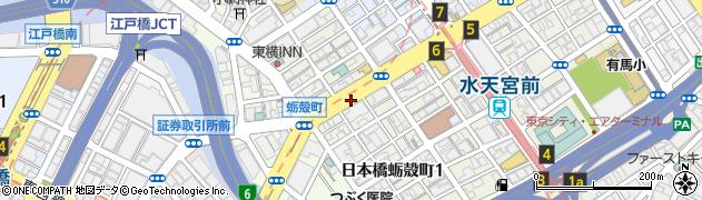 東京都中央区日本橋蛎殻町1丁目周辺の地図