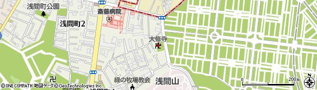 大修寺周辺の地図