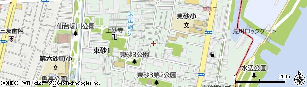東京都江東区東砂2丁目周辺の地図
