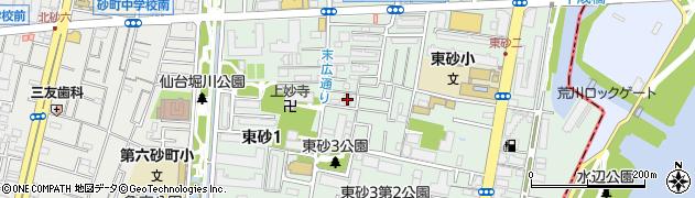 東京都江東区東砂2丁目2-9周辺の地図