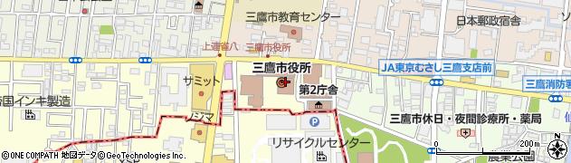 東京都三鷹市周辺の地図