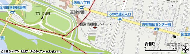 都営青柳南団地周辺の地図