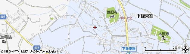 山梨県韮崎市龍岡町(下條東割)周辺の地図