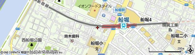 東京都江戸川区船堀周辺の地図