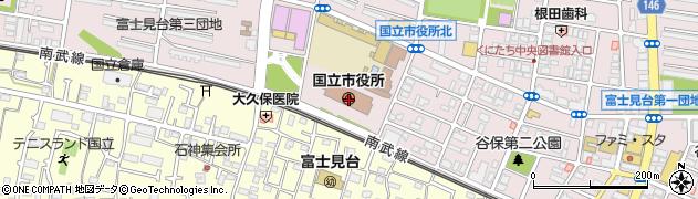 東京都国立市周辺の地図