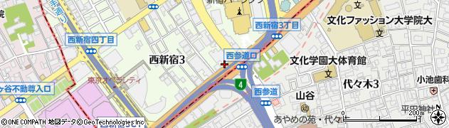 東京都新宿区西新宿3丁目9-10周辺の地図