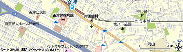 千葉県習志野市谷津周辺の地図
