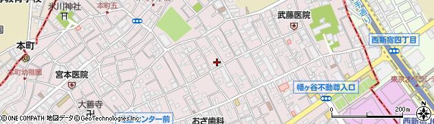 東京都渋谷区本町周辺の地図