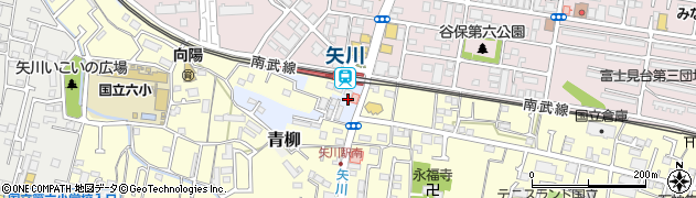 東京都国立市石田周辺の地図