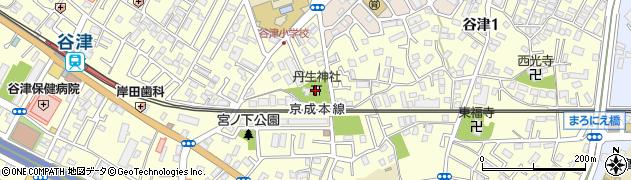丹生神社周辺の地図