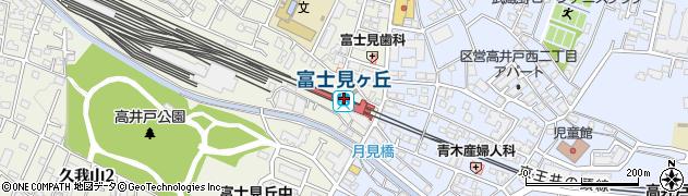 東京都杉並区周辺の地図