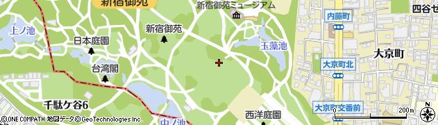 東京都新宿区内藤町周辺の地図