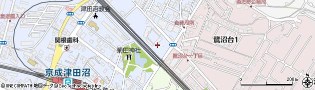 防衛省津田沼宿舎周辺の地図