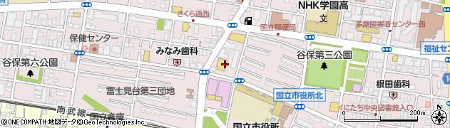 東京都国立市富士見台周辺の地図