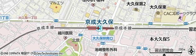千葉県習志野市周辺の地図