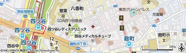 東京都千代田区二番町周辺の地図