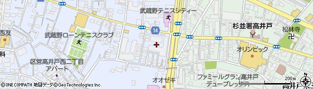 東京都杉並区高井戸西2丁目18周辺の地図