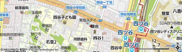 てけてけ四谷店周辺の地図