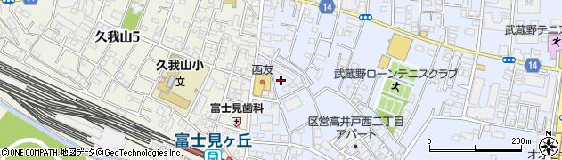 東京都杉並区高井戸西2丁目11周辺の地図