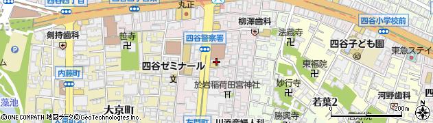 東京都新宿区左門町周辺の地図
