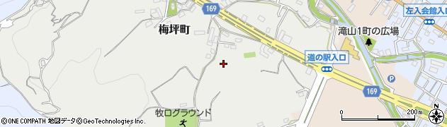 東京都八王子市梅坪町周辺の地図