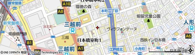 コフィエ(COIFFE) 日本橋店周辺の地図