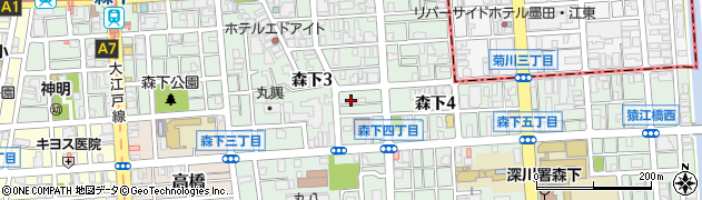 東京都江東区森下周辺の地図
