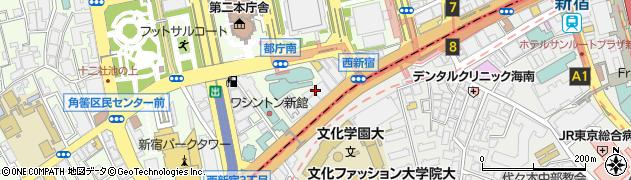 東京都新宿区西新宿3丁目2-7周辺の地図