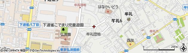 牟礼団地周辺の地図