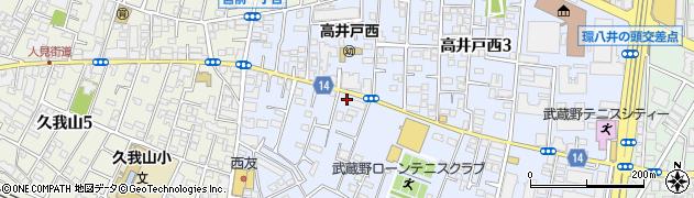 東京都杉並区高井戸西2丁目周辺の地図