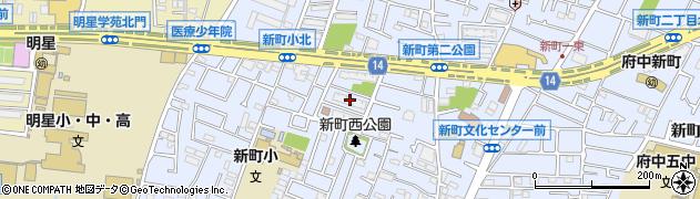 都営府中新町1丁目アパート周辺の地図
