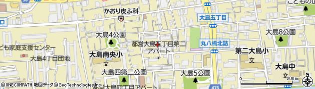 都営大島五丁目第2団地周辺の地図