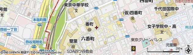 東京都千代田区六番町周辺の地図