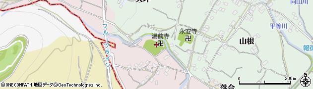 湯前寺周辺の地図
