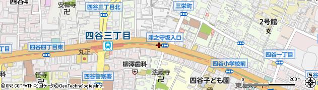 東京都新宿区四谷周辺の地図