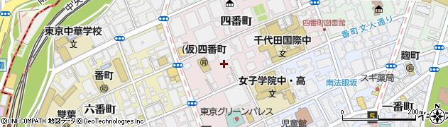 東京都千代田区四番町周辺の地図