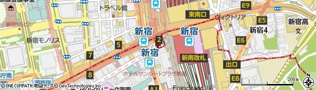 東京都新宿区西新宿1丁目1-7周辺の地図