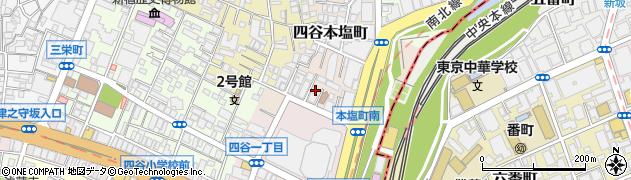 東京都新宿区本塩町周辺の地図